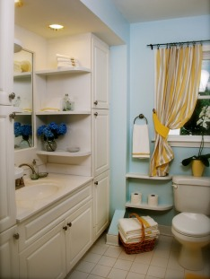 Great idea for storage in a small bathroom of your Mission Viejo Home