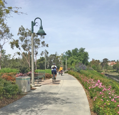 Biking Around Lake Mission Viejo