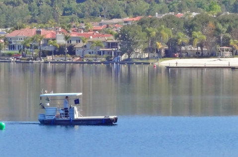 Boating on Lake Mission Viejo | View of Private Beach