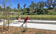 Playing Bocce Ball at Oso Viejo Park