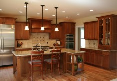Beautiful Wood Floors and Cabinetry Used in This Kitchen Remodel in Mission Viejo Home