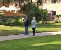 Walking at Crucero park Mission Viejo