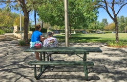 Couple at Florence Joyner Olympiad Park Mission Viejo