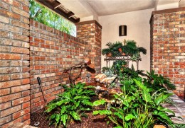 Brick Courtyard of Mission Viejo Home