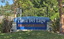 Plaza del Lago Monument in Mission Viejo near the Lake