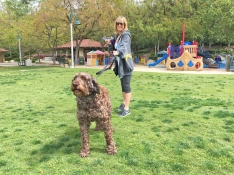 Dog and Owner at Florence Joyner Park in Mission Viejo