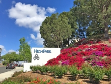 High Park Monument Sign Entry to Business Park Mission Viejo