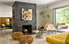 Mid Century Look in Living Room Remodel Mission Viejo Home