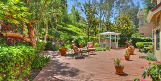 Wood Deck in Back Yard of Mission Viejo Home