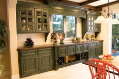 Remodeld Kitchen with Painted Cabinets and Tuscan Feel in Mission Viejo Home