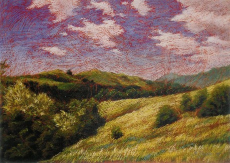 Pastel Painting Arroyo Trabuco Vista by Jackie Gibbins