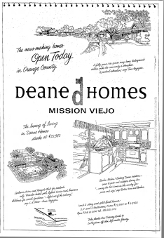 Deane Homes Mission Viejo full page ad 1966