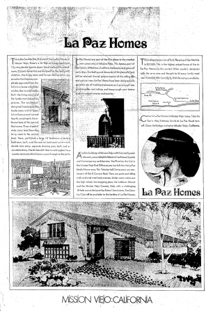 La Paz Homes Mission Viejo full page ad from 1966