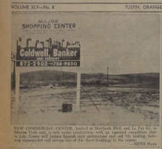 Plans for Shopping Center at La Paz and Muirlands in Mission Viejo 1968