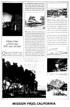 Mission Viejo Planned Community full page ad 1966