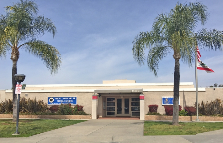 Fred Newhart Middle School in Mission Viejo