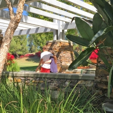 Young Couple at Florence Joyner Olympiad Park Mission Viejo