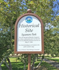 Historical Site at Sycamore Park